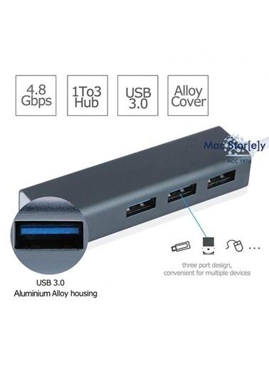 Mcstorey Usb-c Ethernet 3XUsb3.0 Typ-c Hub MacBook Dönüştür A1534 A1706 A1708 A1707 A1989 A1990 1017 Gri